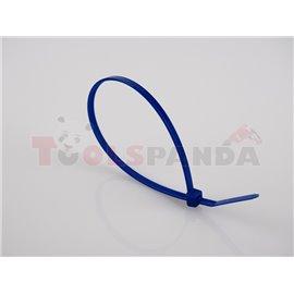 Plastic cable tie 100pcs, type: cable tie, colour: blue, length 300mm, width 3,6mm, max. diameter 88mm