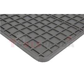 Floor mats (set, rubber, 2pcs, colour black, wide cab) MERCEDES ACTROS MP4 / MP5 07.11-