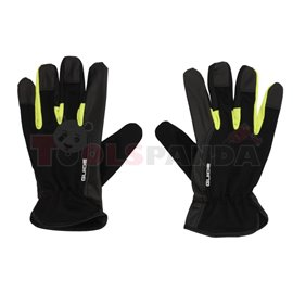 1 чифт, Защитни ръкавици, материал / кожа, цвят: черен / жълт, промишленост: автомобилна транспорт, предназначение: за работа в