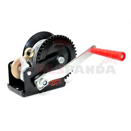 Portable winch towing 540kg/1200lb rope type: steel