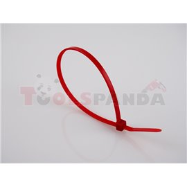 Plastic cable tie 100pcs, type: cable tie, colour: red, length 300mm, width 3,6mm, max. diameter 88mm