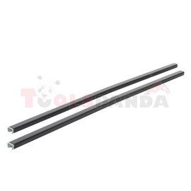 Loading carrier bar (2 pcs, Steel, length: 118 cm, payload: 100 kg, Black) THULE SquareBar 7122