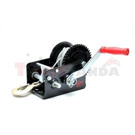 Portable winch towing 1133kg/2500lb rope type: steel