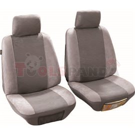Cover seats T1 (polyester, light-grey, front seats, 2 headrest covers + 2 support covers + 2 seat cover + 2 seat) Quito, compati