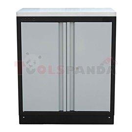 Cabinet MSS, length:845mm, depth:500mm, height: 1002mm, worktop: steel