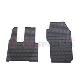 Floor mats (set, rubber, 2pcs, colour black, cab without pneumatic seats) MERCEDES ACTROS MP4 / MP5 07.11-