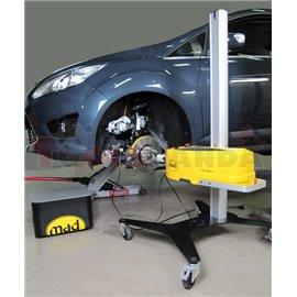 MAD Tokarka do tarcz hamulcowych, model DA8700 z dwoma uchwytami przedłużającymi oraz ramionami przedłużającymi.(film)