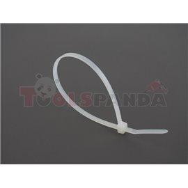 Plastic cable tie 100pcs, type: cable tie, colour: white, length 250mm, width 4,8mm, max. diameter 60mm