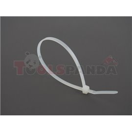 Plastic cable tie 100pcs, type: cable tie, colour: white, length 200mm, width 3,6mm, max. diameter 55mm