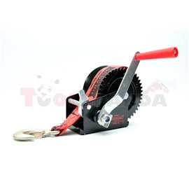Portable winch towing 720kg/1600lb rope type: belt