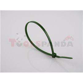 Plastic cable tie 100pcs, type: cable tie, colour: green, length 300mm, width 3,6mm, max. diameter 88mm