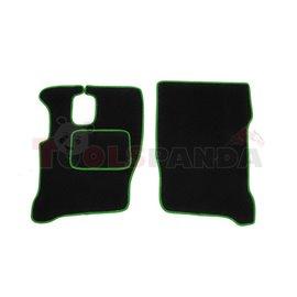 Floor mat F-CORE IVECO, quantity per set 2 szt. (material - velours, colour - green)