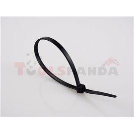 Plastic cable tie 100pcs, type: cable tie, colour: black, length 370mm, width 8mm, max. diameter 100mm