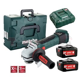 Battery powered angle grinder, W 18 LTX 125mm QUICK, voltage 18V, 2 batteries 4.0Ah, case, charger