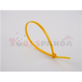 Plastic cable tie 100pcs, type: cable tie, colour: yellow, length 300mm, width 3,6mm, max. diameter 88mm