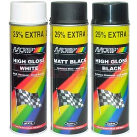 Paint black, acrylic (0,5 l,) matt, application: (PL) aerozol