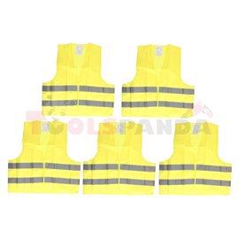 Reflective clothing (colour yellow, quantity 5pcs)