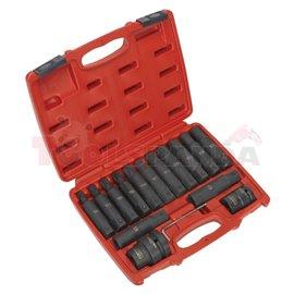 SEALEY набор от накрайника опашка тренировки, E-TORX, HEX, големи размери: Torx - T60, T70, T80, T90, T100, E-Torx - E18, E20, E