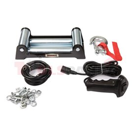 Off-road vehicle winch Maverick towing 5897kg 6,8HP, voltage 12V transmission 3-step planetary reduction 265:1 rope type: steel