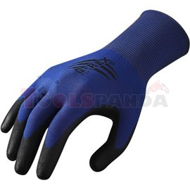 1 pair, Protective gloves, G-REX P01, nylon / poliuretanowe, colour: black/ blue, size: 10 / XL, intended use: work in car garag