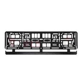 Registration plate frame rectangular (black 52 pcs.)