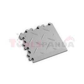 FORTELOCK Industry grey, diamond, tile size 140x140x7mm, load high, corner for tile floor, installation instructions - see techn