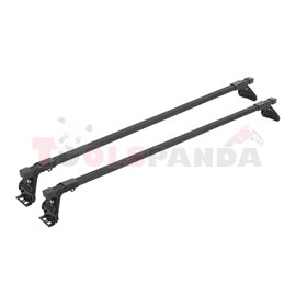 Loading carrier bar (2 pcs, Steel, length: 120 cm, payload: 50 kg, Black, for commercial vehicles) SNOVIT ESPECIFICA 311054