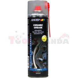 Керамична грес 500ml спрей, цвят: бял, приложение: спирачна система с ABS, ESP и ASR, устойчива на високи температури (до 1100 °
