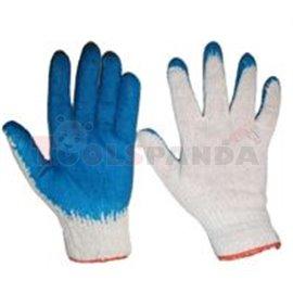 10 чифта, Защитни ръкавици, WAMPIRES, памук / гума, цвят: бял / син, EN 388 EN 420 Категория I