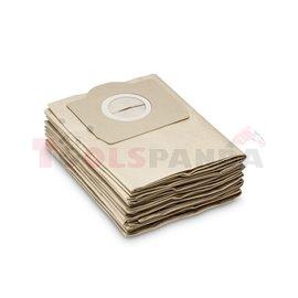 KARCHER Zestaw worków filtracyjnych 5 брой(я) Pasuje do SE 4001, SE 4002, WD 3.200, WD 3.300 M, WD 3.370, WD 3.500 P, WD 3.800 M