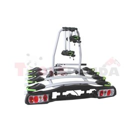 Bicycle transporter (platform) For tow hook fastening For wheels and frame, number of bicycles: 4, electric connector 13-pin