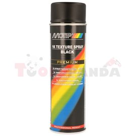 Primer texture, black, 0,5l, application: (PL) aerozol application: trims, plastic, car bumpers
