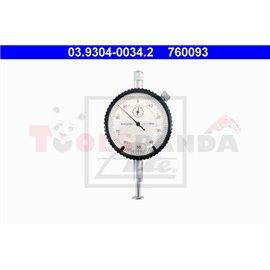 ATE м манометър с точност от 1 / 100mm до измерване на криви (удря страна) спирачни дискове и колело центрове.