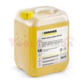 KARCHER концентрат 10л за шайби с високо налягане RM81ASF. Премахва тежкото масло, мазнини и минерални замърсявания. Използва се