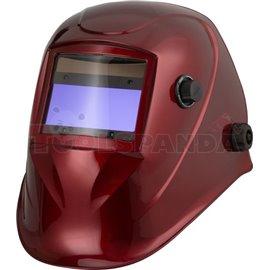 Przyłbica spawalnicza ze zmiennym stopniem ochrony DIN 9-13, wymiar filtra 100X45mm, malowanie RED