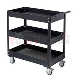 Празна количка/кутия за инструменти, брой чекмеджета: 0, брой рафтове: 3, цвят: черен