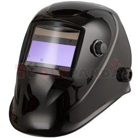 Przyłbica spawalnicza ze zmiennym stopniem ochrony DIN 9-13, wymiar filtra 96X39mm, malowanie BLACK