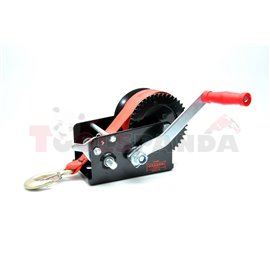 Portable winch towing 1133kg/2500lb rope type: belt