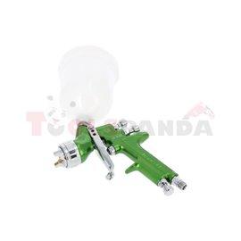 Pistolet lakierniczy HVLP mini dysza 1,0 ze zbiornikiem 120ml Ciśnienie robocze 3 bary zużycie powietrza 90-140 lt/min