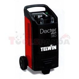 Battery charger and starter DOCTOR START 330, charging voltage: 12/24V, cCA: 300A, charging current: 45A, power supply voltage: