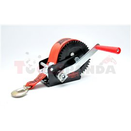 Portable winch towing 540kg/1200lb rope type: belt