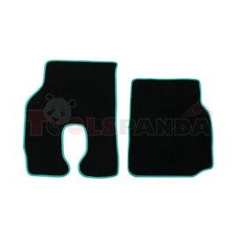 Floor mat F-CORE MAN, quantity per set 2 szt. (material - velours, colour - green)