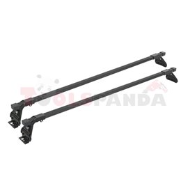 Loading carrier bar (2 pcs, Steel, length: 120 cm, payload: 50 kg, Black, for commercial vehicles) SNOVIT ESPECIFICA 311053