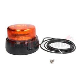 Rotating beacon (orange, 12/24V, LED, 3-Point fitting, no of programs: 1, no plug, one program, wire 3m)