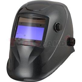 Przyłbica spawalnicza ze zmiennym stopniem ochrony DIN 9-13, wymiar filtra 100X45mm, malowanie CARBON