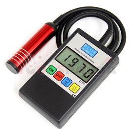 Електронно измерване на дебелината на боята, измерване на стомана, поцинкована стомана и алуминий. Вградено фенерче, 2xAA захран