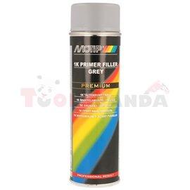 Primer filler, grey, 0,5l, application: (PL) aerozol
