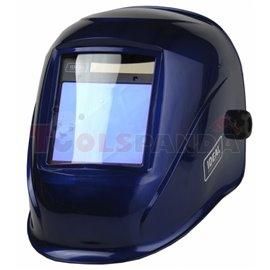 Przyłbica automatyczna APS-958I BLUE ze zmiennym stopniem ochrony DIN 4/5-8/9-13, zmiennym czasem rozjaśniania i możliwością ust