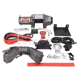 ATV and quad winches Highlander towing 2041kg 1,9HP voltage 12V transmission 3-step planetary reduction 136:1 rope type syntheti
