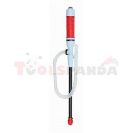 PROFITOOL електрическа помпа за разпределение на ON, DIESEL, бензин и вода, капацитет 7 l / min, смукателна тръба 375 mm, маркуч